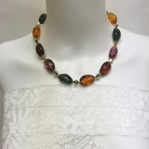 Lucite Vintage Bead Necklace